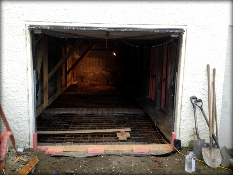 Quelques transformation dans un vieux garage...